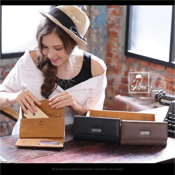 1/2princess二代復古耐磨皮革拉鍊零錢袋斜背兩用長皮夾手拿包-3色[A0021]