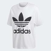 adidas T恤 Originals Trefoil Oversize Tee 男款 大尺寸 落肩 寬版 經典 基本款 白黑 白 黑 【ACS】 CW1212