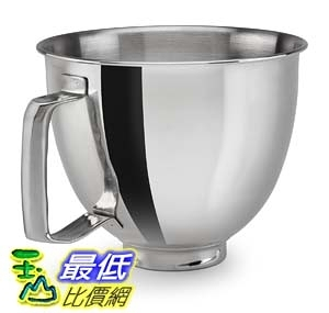 [106美國直購] KitchenAid KSM35SSFP 攪拌機配件 鋼盆 Polished Stainless Steel Bowl 適用KSM3311/KSM3316