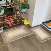 門墊 加厚半圓橢圓浴室衛生間地墊門墊腳墊地毯臥室口家用防滑吸水墊子