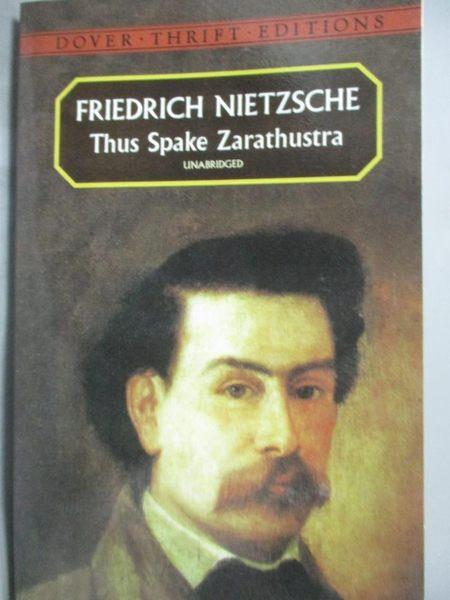 【書寶二手書T2/原文小說_HNY】Thus Spake Zarathustra_Friedrich Nietzsche