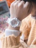 手錶 白色電子手錶女學生韓版簡約潮流ulzzang時尚防水休閒運動手錶男 酷動3C
