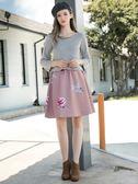 秋冬單一價[H2O]背後綁帶裝飾V領小喇叭八分袖針織線衫 - 白/灰/紫紅色 #8630002