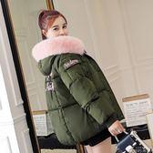 羽絨外套 氣質寬鬆加厚短款大毛領面包服