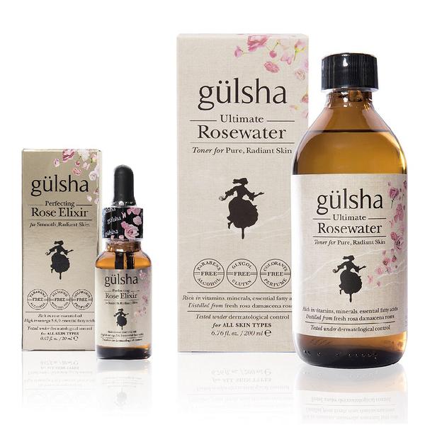 完美進化修護組 (gulsha古爾莎大馬士革極致玫瑰純露200ml+ 完美進化玫瑰精露20ml) / 保濕亮白修護