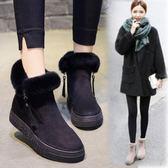 雪地靴女2018新款韓版加絨女靴冬季保暖棉鞋時尚百搭短靴毛靴子女