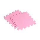 【新生活家】EVA素面巧拼地墊-粉紅色32x32x1cm40入