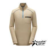 PolarSta r男 竹炭吸排長袖立領衫『棕』P17213 台灣製造 機能衣│刷毛衣│保暖衣