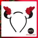 摩達客耶誕-米妮紅黑鹿角髮箍 YS-PDH20008