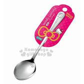 〔小禮堂〕Hello Kitty 日製不鏽鋼湯匙《大.銀.大臉》可愛又實用 4991203-16750