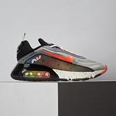 Nike Air Max 2090 男鞋 黑橘 炫彩 潑墨 氣墊 慢跑 休閒鞋 DD8497-160