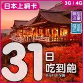 【遊留學生愛用款】日本31天無限量上網卡