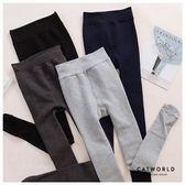 Catworld 內絨毛蕾絲襪頭提臀全長款褲襪【18003460】‧F