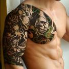 大花臂紋身貼 紋身貼 紋身貼紙 刺青貼紙 貼紙 原創 仿真 紋身 男女 鯉魚 惡作劇 8047