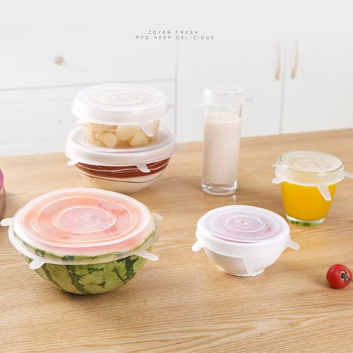 【超取199免運】六件套多功能保鮮蓋 矽膠保鮮蓋 保鮮碗蓋 玻璃保鮮盒 保鮮膜