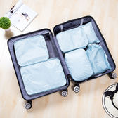 ✭慢思行✭【P588】印花旅行收納六件套 行李整理 旅 分類 拉鍊 網袋 衣物袋平口袋 鞋子包