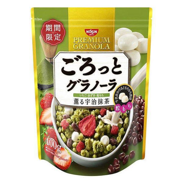 【KP】日本 日清 宇治抹茶麥片 沖泡 早餐 綜合穀物 400g 日本製造進口 4901620161224
