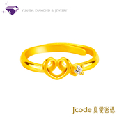 【真愛密碼 七夕情人節】『愛很簡單』黃金戒指尾戒-純金9999國家標準