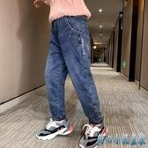 女童加絨牛仔褲子秋冬裝 新款韓版兒童中大童洋氣外穿加厚長褲 OO1710甜心小妮童裝