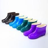 雨鞋夏季雨鞋女短筒加棉中筒加絨雨靴成人女士防滑廚房工作膠鞋男靴子易家樂