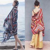 沙灘巾海邊度假必備海灘絲巾兩用圍巾