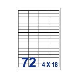 Unistar 裕德3合1電腦標籤紙 (73)UW4515 72格 (20張/包)
