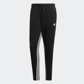 L- adidas  MUST HAVES 3-STRIPES 男裝 長褲 慢跑 休閒 窄管 三條線 黑 內側 三線 DX7651