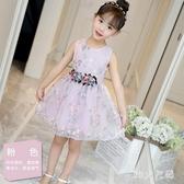兒童裝4女童連身裙6夏裝小孩公主裙子7蓬蓬紗裙洋氣夏天無袖洋裝 EY11778 【MG大尺碼】