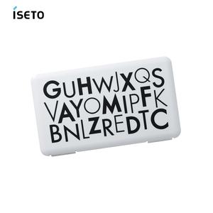 【日本ISETO】日製隨身口罩收納盒-2入字母黑