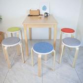 【MH家居】(2入組)麥爾曲木餐椅綠色+橙色