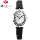 JULIUS 聚利時 天使的指紋復古皮帶腕錶-黑色/21x26mm 【JA-860A】