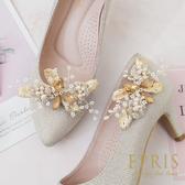 韓國直送手工獨家訂製款 金色之戀 阿勃勒 女鞋裝飾 婚鞋推薦飾扣鞋夾