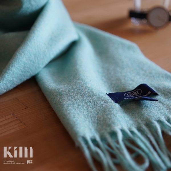 可傑 KIM Taiwan 自然愜意.湖水綠『GOBI 100% 喀什米爾圍巾』 原價3500 限時85折 $2975