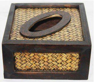 藤編 紙巾盒