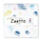 【日本製】【Zootto】日本製 今治毛巾動物系列 手帕巾 星座水母圖案 SD-4081 - 日本製 今治毛巾