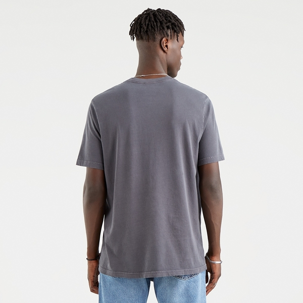 Levis 男款 短袖T恤 / 寬鬆休閒版型 / 摩登復古Logo / 漂染珍珠灰