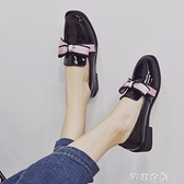 小皮鞋小皮鞋女學生韓版百搭軟妹新款夏網紅仙女英倫蝴蝶結黑色單鞋 快速出貨