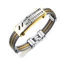【5折超值價】【316L西德鈦鋼】新款時尚鑲鑽特色造型鈦鋼手環