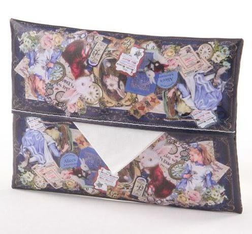 日本製愛麗絲夢遊仙境面紙袋 ANGELIQUE SPICA面紙包 收納包 防水 復古風 日本代購 (呼呼熊)