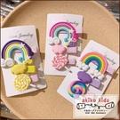 【akiko kids】Sunny Girl可愛彩虹棒棒糖造型兒童髮夾三件組