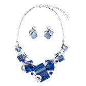 鎖骨鏈 歐美復古夸張水晶寶石項鏈套裝短款裝飾鎖骨鏈女晚宴禮服時尚配飾
