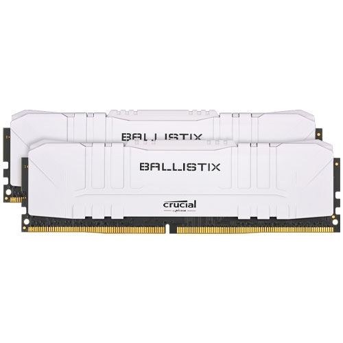 Micron 美光 Crucial Ballistix E-DIE DDR4 3200 32GB RAM 桌上型 超頻記憶體 16GB*2 白色 BL2K16G32C16U4W