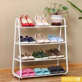鐵藝防塵宿舍鞋架家用多層簡易收納拖鞋架簡約鞋櫃gogo購