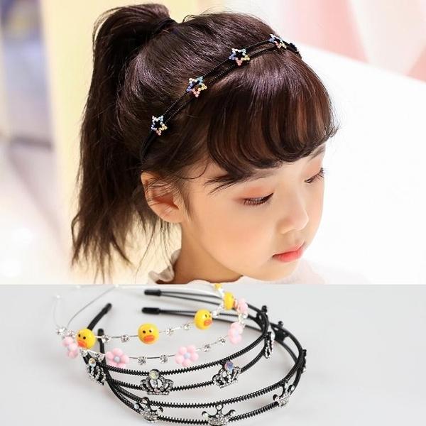 兒童髮飾 兒童發箍女防滑壓發可愛韓國公主百搭發卡女童頭箍寶寶皇冠頭飾潮