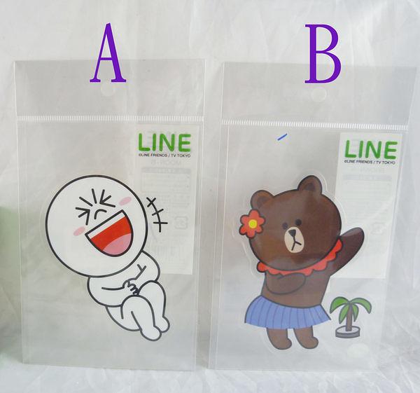 【震撼精品百貨】LINE FRIENDS_兔兔、熊大~貼紙-饅頭人/熊大 【共2款】