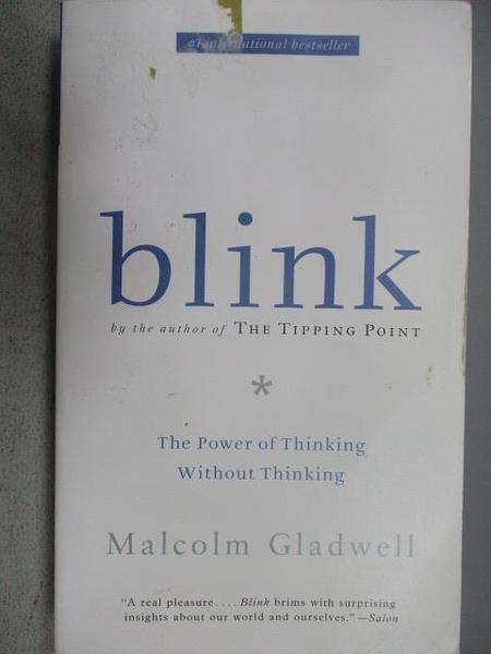 【書寶二手書T2/心理_MEJ】Blink:The Power of Thinking Without Thinking