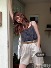 棉麻短褲 瘦竹竿 夏季薄款韓版百搭鬆緊高腰寬鬆休閒棉麻短褲女 嬡孕哺