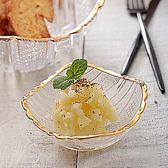 點心盤日式家用玻璃碗冰激淋碗水果沙拉碗火鍋調料碗碟甜品碗醬料碗        萌萌小寵