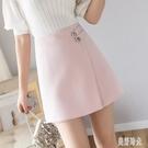 不規則夏季ins超火的裙子短裙A字裙半身裙女春夏2020新款高腰半裙 FX6074 美好時光