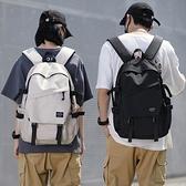 書包女大學生潮牌雙肩包初中生大容量韓版原宿高中學生背包男士夏 極簡雜貨
